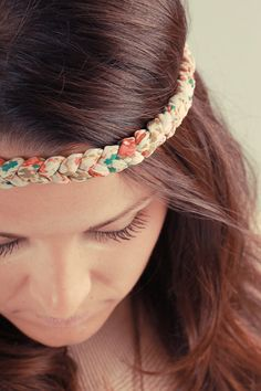 Bohemian Headband Braided Floral Head Band Women's Fashion Hair Accessories - Pastels on Etsy, $12.99