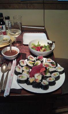 Sushi night.