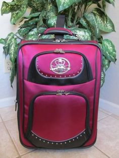 Cute for Mariah would she like the red? Womens Luggage, Kathy Van Zeeland, Carry On Suitcase, Girlfriends, Rocks, Lunch Box, Places, Cute, Red