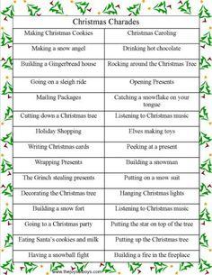 Holiday DIY Party Idea: Christmas charades | Free Printable