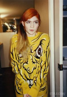 i love the sweater but i guess i'm supposed to care more about the person wearing it. whatever grimes —r.