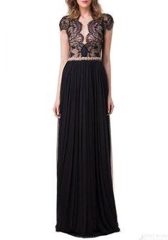 2016 Prom Dresses-Custom Made Top Quality V-neck Floor Length Chiffon Prom Dresses Party Evening Dresses