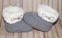 """Baby- Schuhe """"Kuschlos"""" Anleitung zum stricken, gemütlich warm und schnell gestrickt"""
