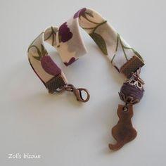 Bracelet tissu Chat