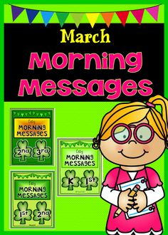 March Morning Messages - save time with these printable morning messages. Or you can also use them on your SmartBoards. $