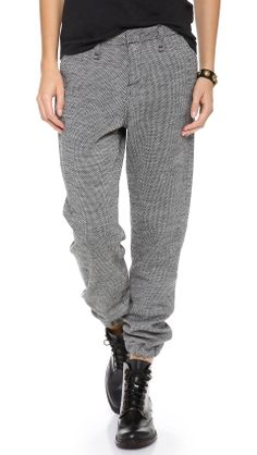 Rag  Bone/JEAN Houndstooth Pajama Trousers on Wantering