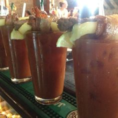 Doing it right. @AJ Bombers and @AJ Bombers Madison use a chunk of cheeseburgers as a garnish in their Bloody Marys. #onlyinWisconsin Bloody Mary Bar, Do It Right, Wisconsin, Foodies, Restaurants, Beef, Spaces, Make It Yourself, Heart