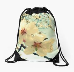 Blossoms Close-up Drawstring Bag by ARTbyJWP from Redbubble #bag #backpack #drawstringbag #artprints #buyart #walldeco #blossoms #floral #spring Close-up of beautiful spring blossoms. • Also buy this artwork on wall prints, apparel, stickers, and more.