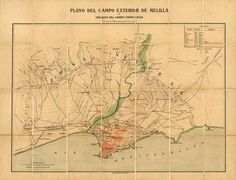 Map: Melilla, Spanish Colonial City