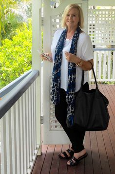How to change an outfit from day to night - luxe tee, Harlow jeans, Frankie4 Footwear slides, Sterling and Hyde bag, Sportscraft scarf