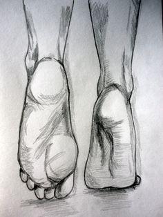 Esboço de pés feito a lápis de grafite HB a partir do do Pinterest - (Malay 24/6/14)
