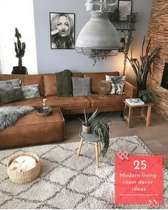 home Sofa; Home Decoration; Leather sofa;Three Seat Sofa;Two-seat Sofa Brown Couch Living Room, Living Room Modern, Rugs In Living Room, Living Room Couches, Brown Couch Pillows, Dark Couch, Living Room Decor Brown Couch, Living Room Bookcase, Brown Sofa