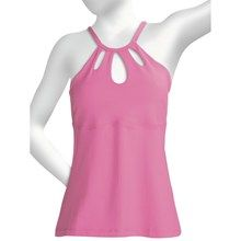 Body Up Keyhole Tank Top (For Women) in Pink - Closeouts Pink Workout, Pink Body, Running Women, Shirt Outfit, Pink Fitness, Athletic Tank Tops, Celebrities, How To Wear, Shirts