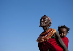 Samburu mother and baby - Kenya by Eric Lafforgue, via Flickr