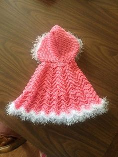 Crochet Baby Ripple Cape.
