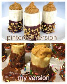 My Pinterest fail Pin Fails, Funny Fails, Pintrist Fails, Baking Fails, Fail Nails, Food Fails, Expectation Reality, Frozen Banana, Lol