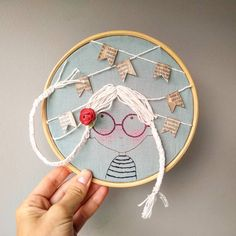 Embroidery Hoop Decor, Hand Embroidery Art, Flower Embroidery Designs, Creative Embroidery, Embroidery Fashion, Modern Embroidery, Embroidery Applique, Cross Stitch Embroidery, Needlework