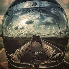 "fuelandfreedomcom: ""#Repost @de_ranieri_simone with @repostapp ・・・ My best selfie of 2016 #selfie #biker #forever #biker#photographer @premier_helmets """