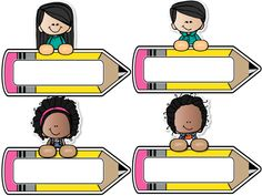 Print and use these name tags Classroom Labels, Classroom Rules, Preschool Classroom, Classroom Decor, Kindergarten Test, First Day Of School, Back To School, School Border, School Labels