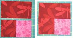 Try Batiks or Brighty Colored Fabrics to Create a Floating Squares Quilt: Continue Working on a Warm Floating Squares Block