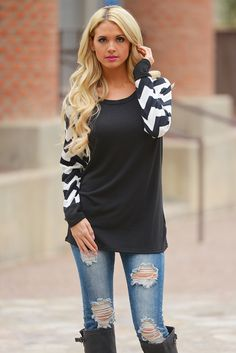 You Already Know Tops - Chevron from Closet Candy Boutique