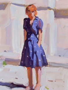 Lena Rivo's Painting Blog: Girl in a blue dress