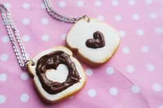 Nutella chocolate toast friendship necklaces
