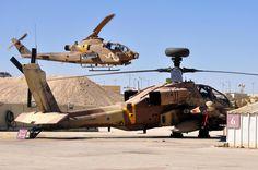 Israeli Defense Force AH-1 Cobra and AH-64 Apache