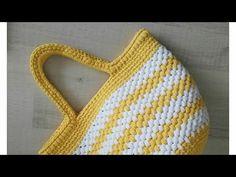 Penye İpten Çanta Yapımı (Ribbon İp İle Plaj Çantası Yapımı) 3 - YouTube