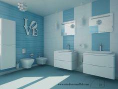Duravit bathroom with PuraVida series. Bathroom designed by Carmen R. Toribio