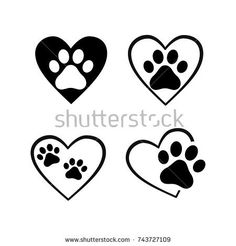 cat and dog paw print inside heart set Baby Tattoos, Tattoos For Kids, Wolf Tattoos, Trendy Tattoos, Animal Tattoos, Cute Tattoos, Body Art Tattoos, Cat Paw Print Tattoo, Family Tattoos
