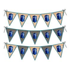 Printable Doctor Who Inspired Pennant Bunting, Geek Home Decor, DIY Project