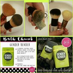 Gender Bender is an amazing option to not only give your body and face a deep d-tox clean but also your makeup supplies.  Have them look clean, soft, and new again.   https://ShannonHarvey.po.sh/gender-bender-chunk