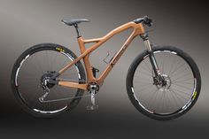 New model mountain bike 29 Wood Bike, Wooden Bicycle, Cargo Bike, Bicycle Components, Bike Frame, Cool Bicycles, Bike Design, Cycling Outfit, Made Of Wood