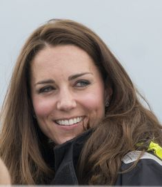 Catherine, Duchess of Cambridge on board an America's Cup yacht in Auckland Harbour on April 11, 2014 in Auckland, New Zealand. The Duke and...