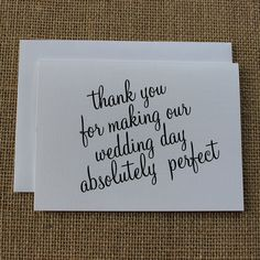 Adorable thank-you card for anyone who helped throughout the wedding process!