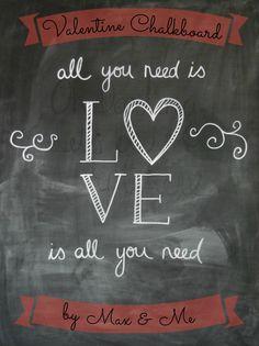 {Max & Me} Valentine's Day Chalkboard