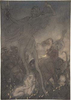 """Arthur Rackham (1867-1939). Illustration for """"till Eulenspiegel"""", 1916. The Metropolitan Museum of Art, New York.  Bequest of Scofield Thayer, 1982 (1984.433.283)."""