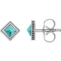 Thomas Sabo Africa Square Stud Earrings (€51) ❤ liked on Polyvore featuring jewelry, earrings, geometric earrings, ball stud earrings, square earrings, butterfly stud earrings and butterfly earrings