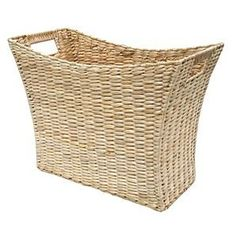 Hand Made Natural Wicker Magzine Storage Rack / Basket Size 40cm x 20cm x 30cm: Amazon.co.uk: Office Products
