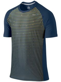 #Nike Men's Winter Advantage UV Graphic #Tennis Crew in Navy