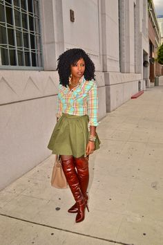 Style Pantry | Rain Trench + Flannel Shirt + Flouncy Skirt