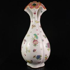 Superb Hand-painted Chinese Famille Rose Porcelain Vase