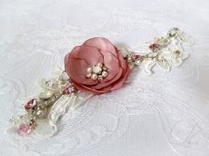 Embroidered Lace Bridal Cuff Bracelet Wedding lace by LysaCreation, $80.00