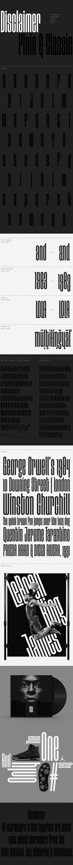 Disclaimer free font on Behance