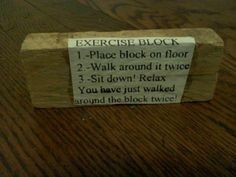 exercise block lmao after you finish this do a 1hr workout.