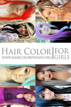 There are many different hair colors for girls from blonde and more! #hair #haircolortrends #haircolor