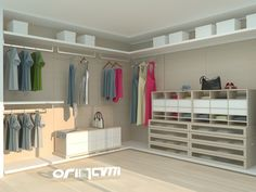 Origami Modern Masif Mobilya   Projeler   Giyinme Odası
