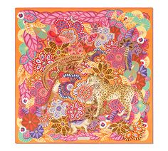 Vista frontal del producto What Is My Name, Churro, Scarf Design, William Morris, Scarfs, Collage Art, Hermes, Silk, Logos