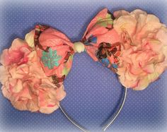Beautiful and Unique Inspired Floral Mouse Ears by EnchantedEtc